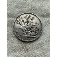 Великобритания 1 крона 1890 г.