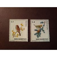 Сан -Марино 1972 г. Птицы.