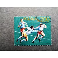 Марка Польша 1990 год. Спорт