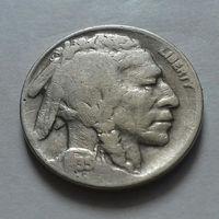 5 центов, США 1935 D, чукча в перьях