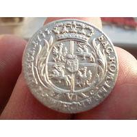 6 грошей 1755 год