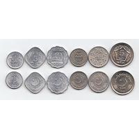 Пакистан Набор 6 монет 1976 - 2004 год