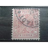 Вюртемберг 1881 Служебная марка 10 пф