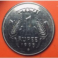 25-17 Индия, 1 рупия 1998 г. (mk - Кремница)