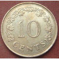 6523:  10 центов 1972 Мальта