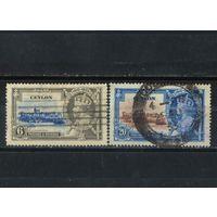 GB Колонии Цейлон Омнибус 1935 GV Коронация #212,214