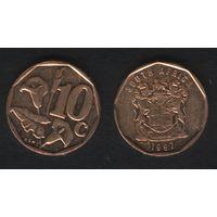 Южная Африка (ЮАР) km161 10 центов 1997 год (b06)