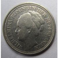 Нидерланды. 10 центов 1925. Серебро. 246