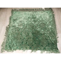 Скатерть ГДР (плюш густой набивной) зеленая