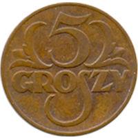 Польша 5 грошей 1939г.
