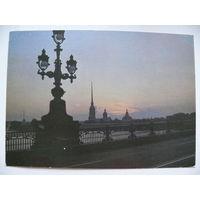 Фото Аряева Н., Ленинград. Вид на Петропавловскую крепость, 1987.