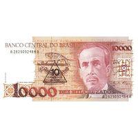 Бразилия 10 новых крузадо на 10000 крузадо образца 1989 года AUNC p218a