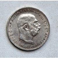 Австро-Венгрия 1 крона 1915 года. Серебро
