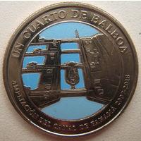 Панама 1/4 бальбоа 2016 г. 100 лет строительству Панамского канала. Расширение канала 2007-2016