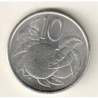 Острова Кука 10 цент 2015