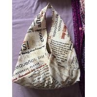 Сумка пляжная и не только газета плотная качественная ткань Японский дизайн