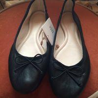 Zara балетки черные 100% кожа р-р 34-35 (европейская маркировка 36)