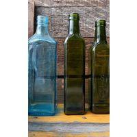Бутылки.Цветное стекло.3 шт.