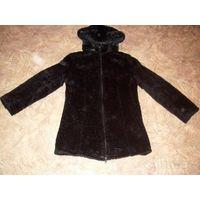 Меховая удлиненная курточка
