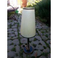 Лампа настольная бронза медь бакелит.60 тые годы
