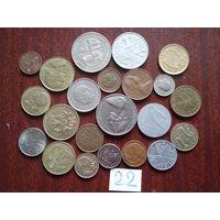 22 монеты   мир