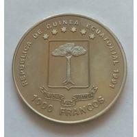 Экваториальная Гвинея, 1000 франков 1991 год. Бранденбургские ворота. Тираж всего 5150!!!