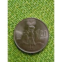 Соломоновы острова 20 центов 1995 Ф.А.О. Елизавета II