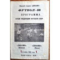 Динамо Минск - Динамо Киев  1988 год  Кубок федерации