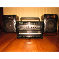 Магнитофон 2-х кассетный панасоник