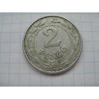 Венгрия 2 пенго 1942г. km522.1