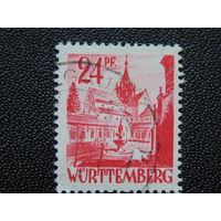 Вюртемберг. Германия. Французская оккупационная зона. 1945-1949 гг.