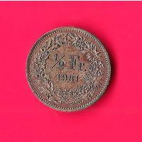 11-24 Швейцария 1/2 франка 1981г.