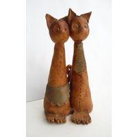 Фигурка Статуэтка Кот и Кошка . Хорватия . Ручная работа  19 см