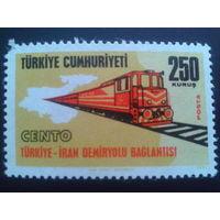 Турция 1971 поезд Mi-1,6 евро