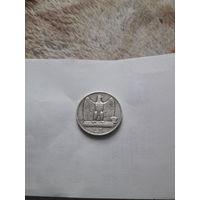 ИТАЛИЯ 5 лир 1927 год/ серебро/