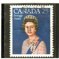 Канада.Ми-648. Королева Елизавета II. Серия: Серебряный юбилей.1977.