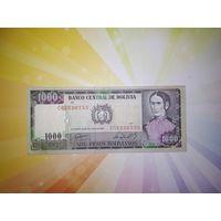 Боливия 1000 песо боливиано 1981-85гг