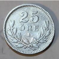 Швеция 25 эре 1918 TS, серебро