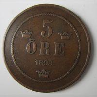 Швеция. 5 эре 1898.     .12с-461