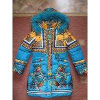 Пальто зимнее BILEMI для девочки, рост 140