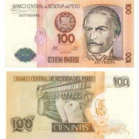 Перу  100 интис 1987 год  UNC