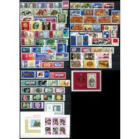 ГДР - 1970г. - Полный годовой набор - MNH [Mi 1534-1631] - 78 марок, 5 сцепок, 3 блока, 1 малый лист