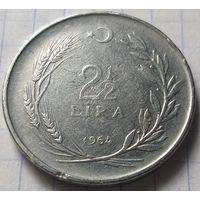 Турция 2,5 лиры, 1964           ( 7-9-4 )