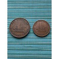 Канада  Нью-Брансуик 1/2 и 1 пенни 1843 гг.