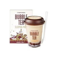 Ночная маска с пузырьками с экстрактом черного чая ETUDE HOUSE Bubble Tea Sleeping Pack Black Tea