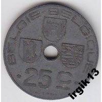 Бельгия 25 сантимов 1946 года