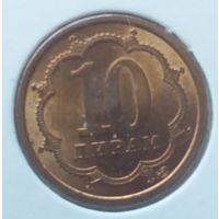 Таджикистан 2006 года 10 дирам UNC магнитная