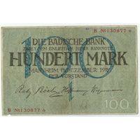 Германия, 100 марок 1918 год.