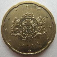 Латвия 20 евроцентов 2014 г.