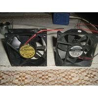 Вентиляторы для обдува процессора и блока питания компьютера-3 шт.